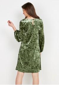 Velor Green Dress