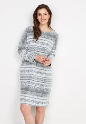 Szara Sukienka Oversize