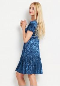 Blue velvet dress