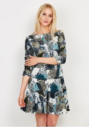 Sukienka w zielone liście