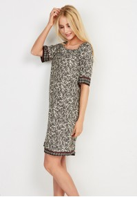 Simple boho black patterned dress
