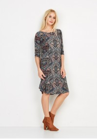 Patterned Paisley Dress