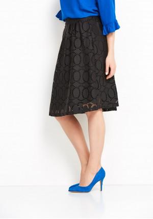 Openwork black Skirt