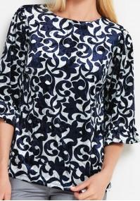 Welurowa bluzka