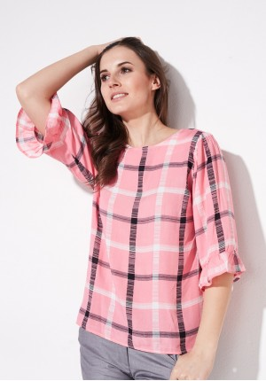 Pink summer blouse