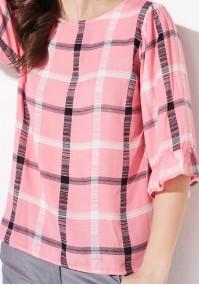 Pink summer blouse