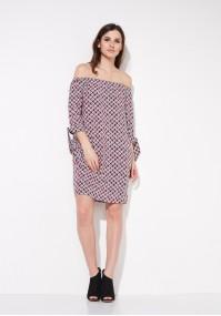 Red Off-the-shoulder Dress