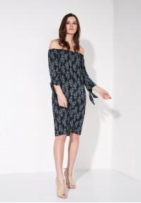 Black paisley boho dress