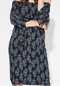 Black paisley boho dress
