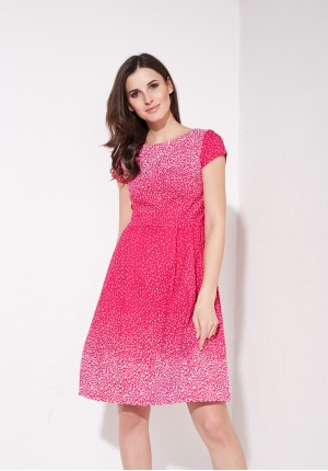 Pink flared dress