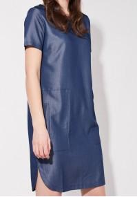 Jeansowa Sukienka z kieszeniami
