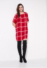 Red tartan dress