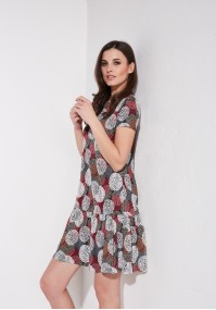 Smock Dress with red circles