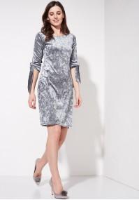 Grey velvet dress
