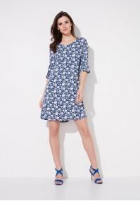 Navy a-line dress