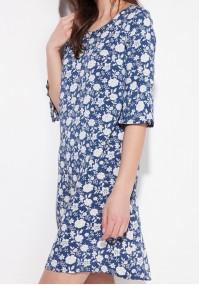 Trapezowa sukienka w kwiaty