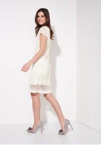 Sukienka 1265 (kremowa)