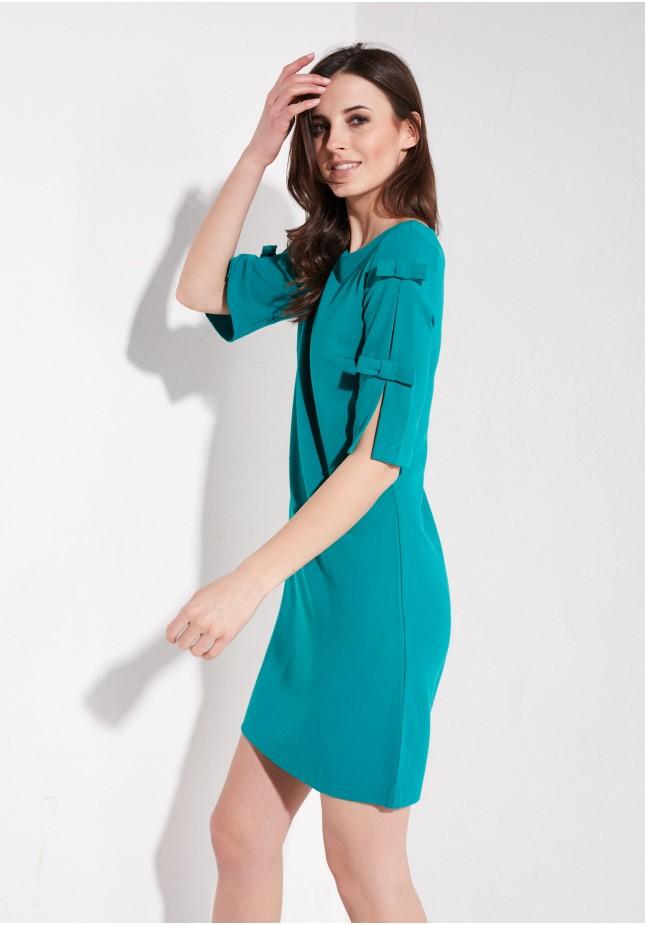 Turquoise plain dress