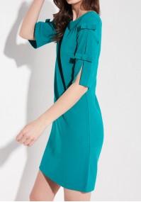 Turkusowa sukienka gładka