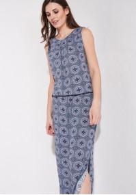 Maxi Sukienka z rozcięciem