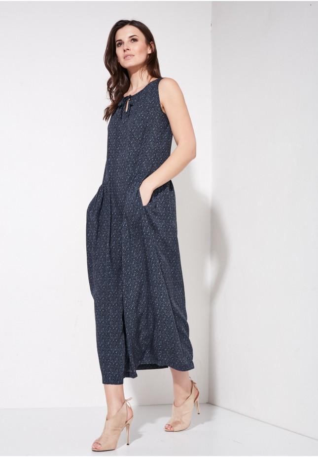 Sukienka maxi z kieszeniami