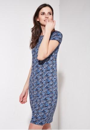 Niebieska sukienka boho