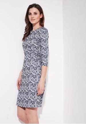 Trapezowa elegancka sukienka