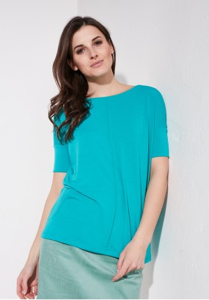Knitwear turquoise blouse