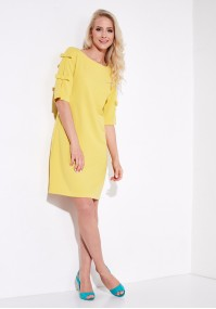 Yellow plain Dress