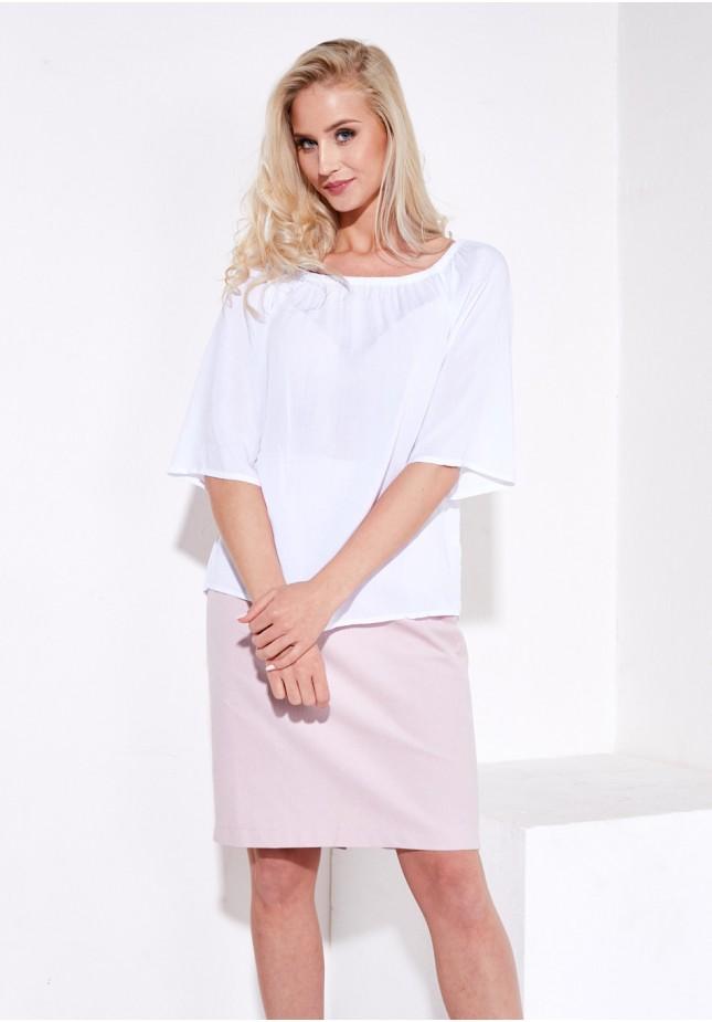 Biała cienka bluzka