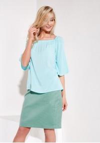 Blue summer blouse