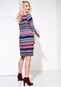 Bandeau summer dress, multicolor stripes