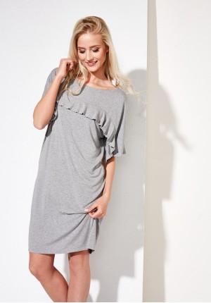 Szara prosta sukienka