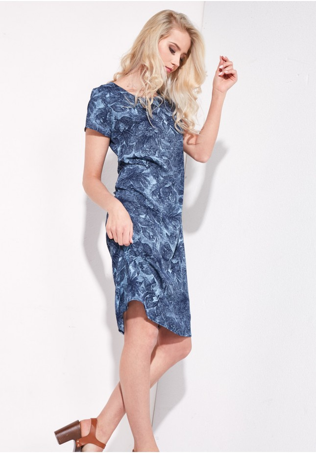 Straight blue dress