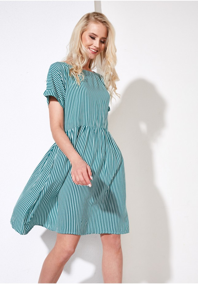 Zielona luźna sukienka