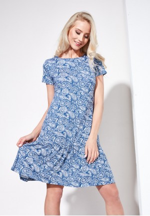 Sukienka 1295 (niebieska)