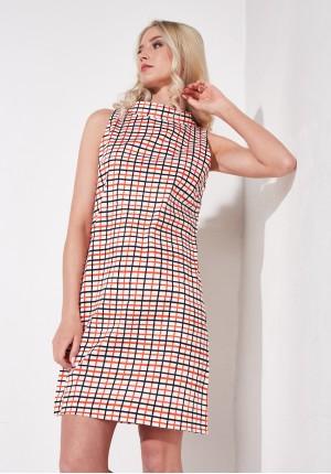 A-line orange dress