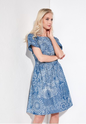 Sukienka 1191 (niebieska)