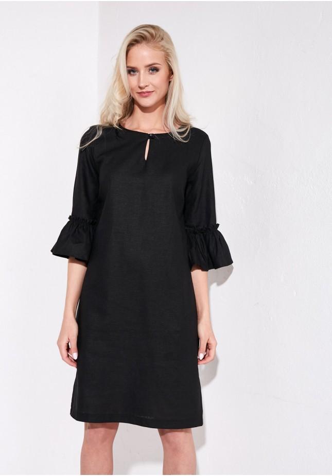 Elegancka lniana sukienka