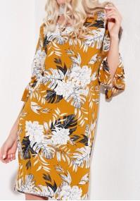Flowery Mustard Dress