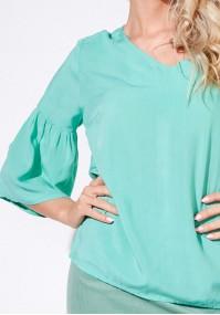 Seledynowa luźna bluzka