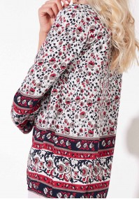 Red boho blouse