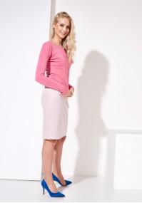 Sweter 8718 (ladnrykowy różowy)