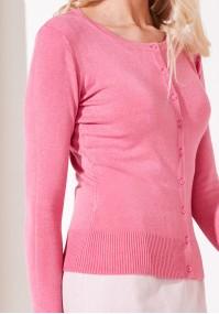 Klasyczny jaskraworóżowy Sweter