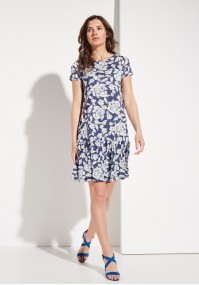 Navy dress with a frill