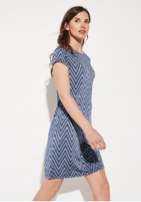 Summer dress with zigzags