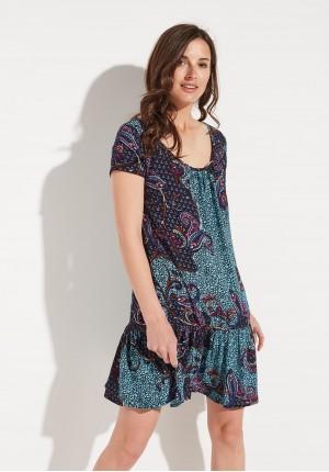 Zwiewna Sukienka z Falbaną