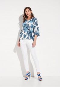 Białe letnie Spodnie