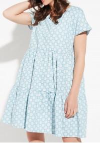 Błękitna sukienka oversize