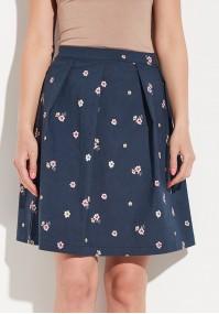 Rozkloszowana spódnica w kwiaty